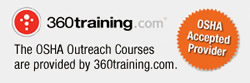 OSHA 30-Hour Courses are Supplied by 360 Training