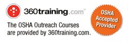 OSHA 30-Hour training is Supplied by 360 Training