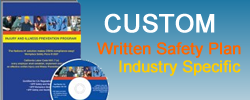 Purchase complete and custom written, industry-specific safety plans